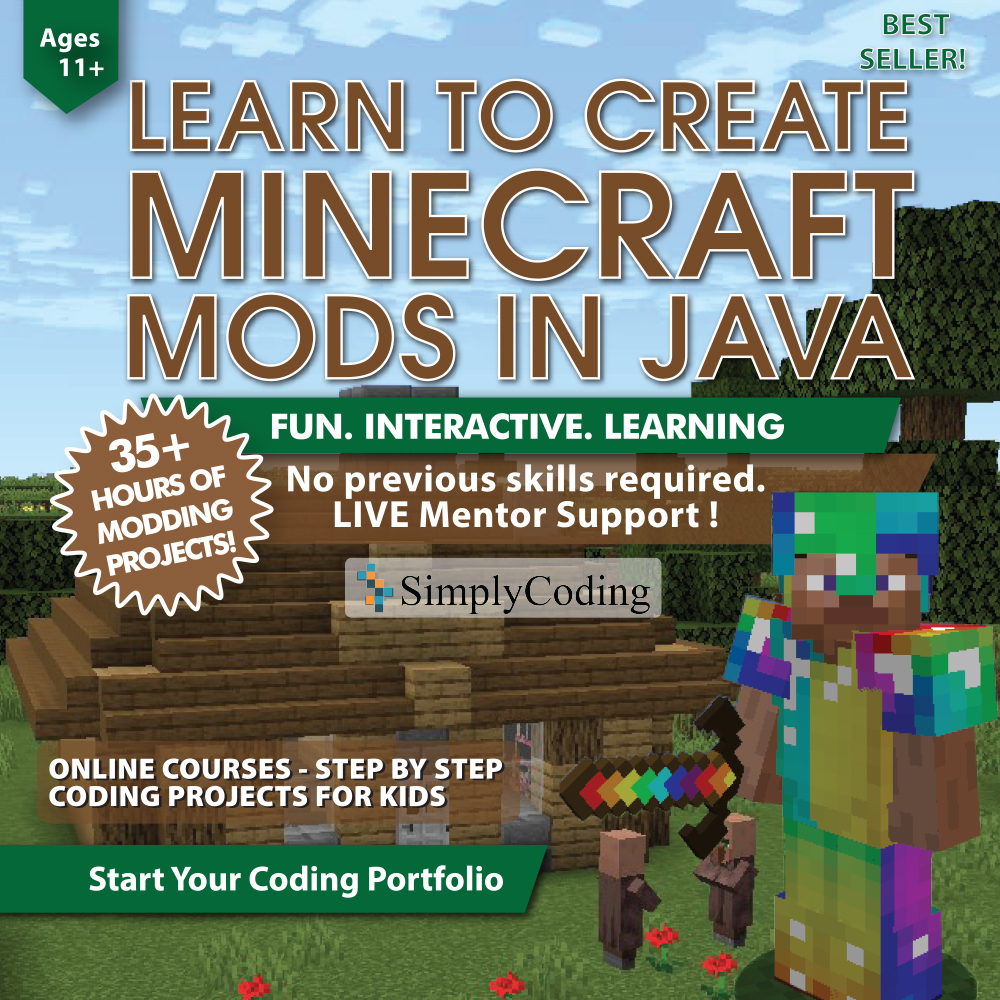 Minecraft Mods In Java Coding For Kids Simply Coding